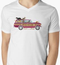 Year of the Dog - Waggies in a Waggy Men's V-Neck T-Shirt