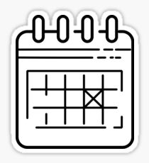 Calendar symbol / icon pattern Sticker