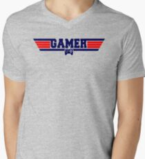 Top Gamer Mens V-Neck T-Shirt