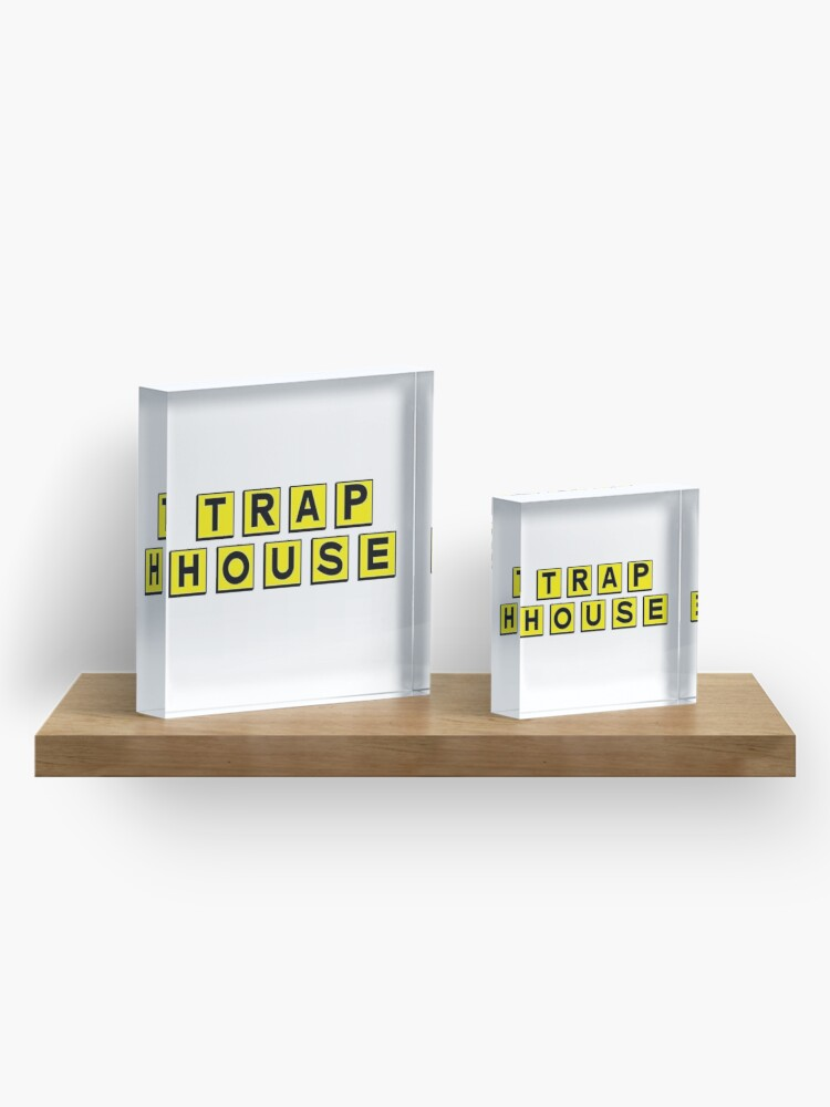 Alternate view of Trap House  Acrylic Block