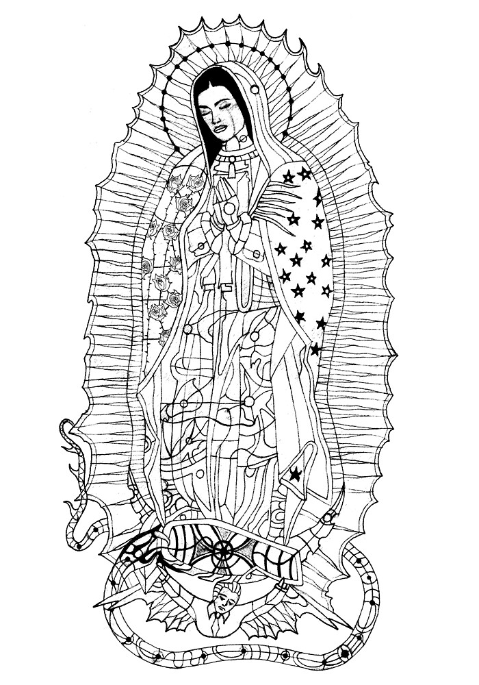 Our Lady of Guadalupe by edwin rivera