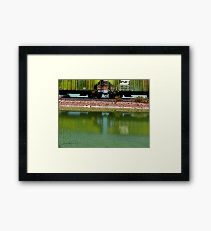 Reflection Of Color Framed Print