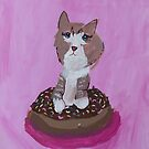 'Cat on a Donut' by Catherine Millbank (2018) by Peter Evans Art