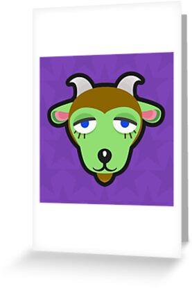 Gruff animal crossing greeting cards by purplepixel redbubble gruff animal crossing by purplepixel m4hsunfo