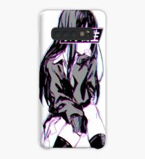 SCHOOLGIRL (Glitch) - Sad Japanese Anime Aesthetic Case/Skin for Samsung Galaxy