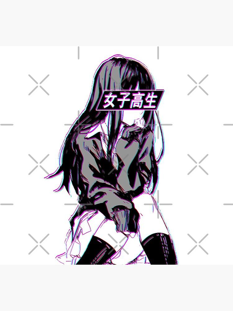SCHOOLGIRL (Glitch) - Sad Japanese Anime Aesthetic by PoserBoy