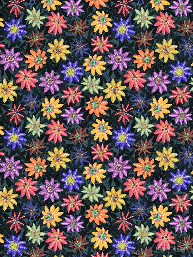 Pattern #77 - Passion flowers  by IreneSilvino