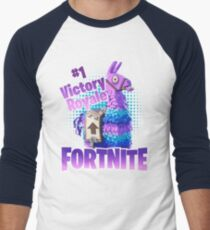 Fortnite Victory Royale Lucky Llama Men's Baseball ¾ T-Shirt