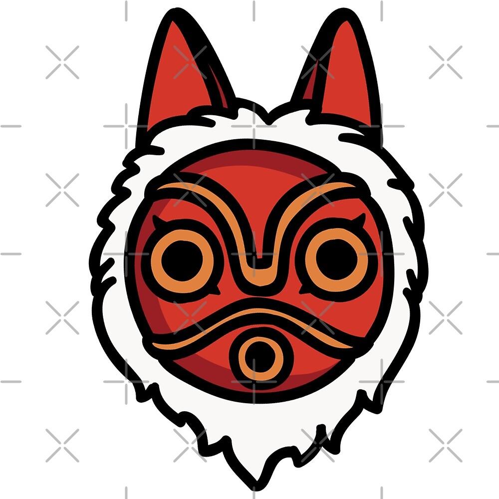 San S Mask Princess Mononoke By Chou Kawaii Redbubble