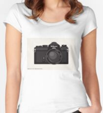 Nikon FE 35mm slr Women's Fitted Scoop T-Shirt