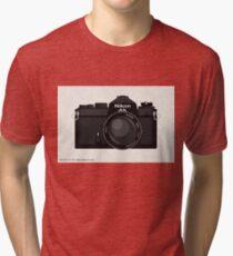 Nikon FE 35mm slr Tri-blend T-Shirt