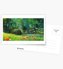 Studio Ghibli Anime Landschaft Postkarten