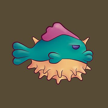 Grumpy pufferfish by null-painter