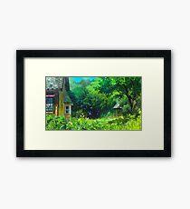 Studio Ghibli Anime Landscape Framed Print