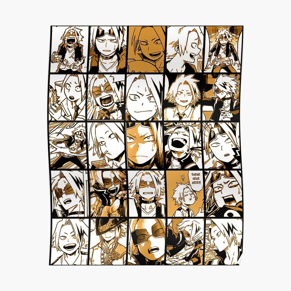 BNHA Kaminari Denki Collage Poster