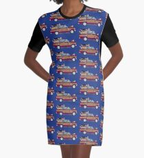 Year of the Dog - Waggies in a Waggy Graphic T-Shirt Dress