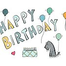 Jack's Happy Birthday - Tartan Cake by Beth A.  Richardson