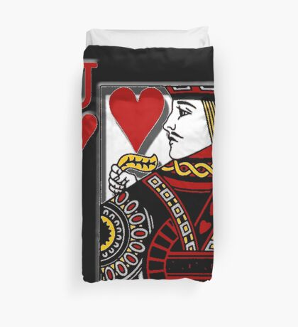 jack of hearts Duvet Cover