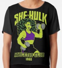 She-Hulk Athletic Club Colorful Chiffon Top
