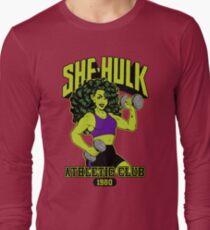 She-Hulk Athletic Club Colorful Long Sleeve T-Shirt
