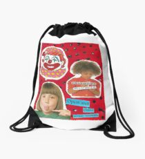 OPEN AND CLOSE YOUR MOUTH Drawstring Bag