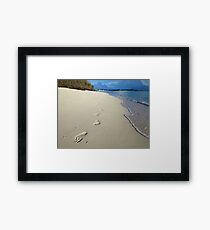 Sunrise Footprints  Framed Print