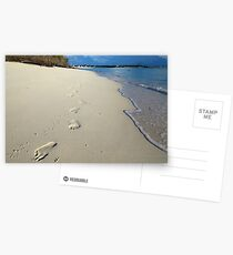 Sunrise Footprints  Postcards