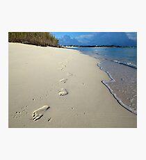 Sunrise Footprints  Photographic Print