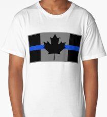 Thin Blue Line Canada Flag Police Law Enforcement Long T-Shirt