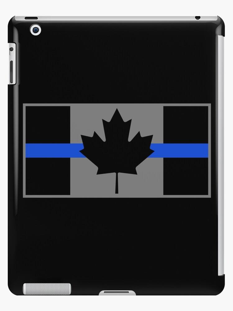 decal police canada logo Thin Blue Line CANADIAN MAPLE LEAF Sticker