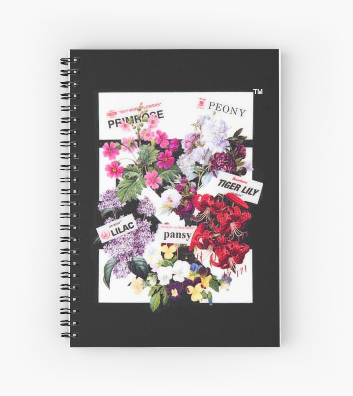 Off White Flower Shop Arrows Spiral Notebooks By Optixal Redbubble