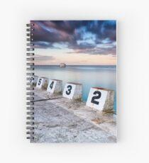 Merewether Ocean Baths - The Starting Blocks  Spiral Notebook