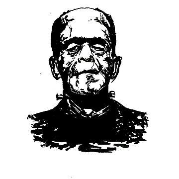 Retro Frankenstein- Transparent by Kapitan515