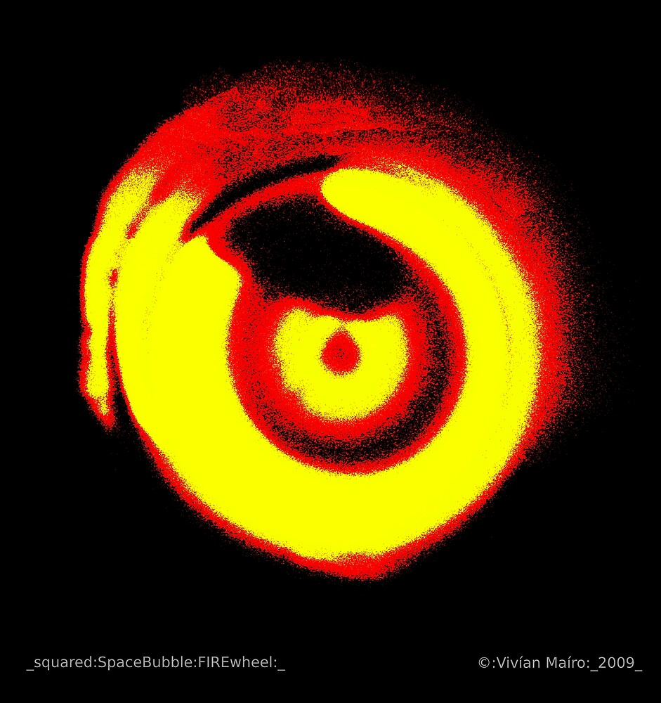 _squared:SpaceBubble:FIREwheel:_ by Vivian V  Mairo