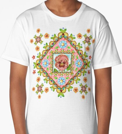 Pansy Cottage Garden Long T-Shirt