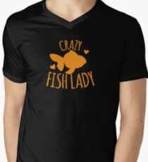 Crazy Fish lady with cute little goldfish T-Shirt