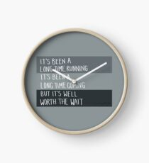 Long Time Running - Tragically Hip Clock