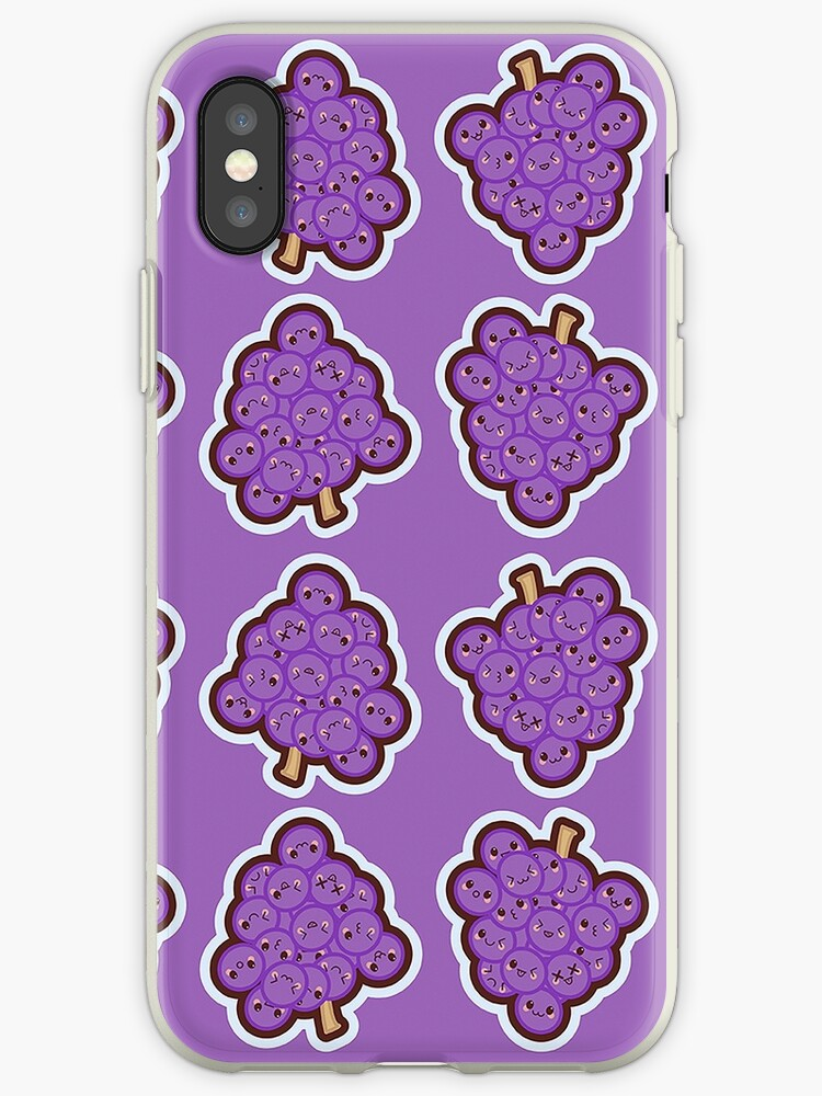 Kawaii Grape Cute Pattern Wallpaper by SusurrationStud