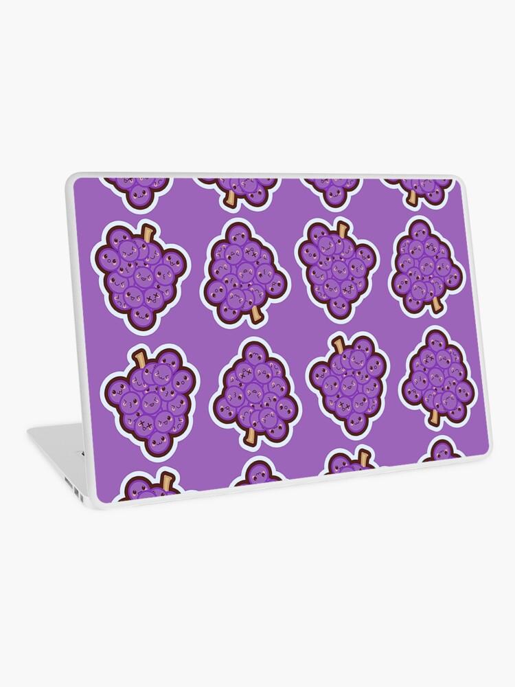 Kawaii Grape Cute Pattern Wallpaper   Laptop Skin