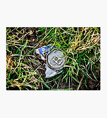 Man and Nature, drinks can Photographic Print
