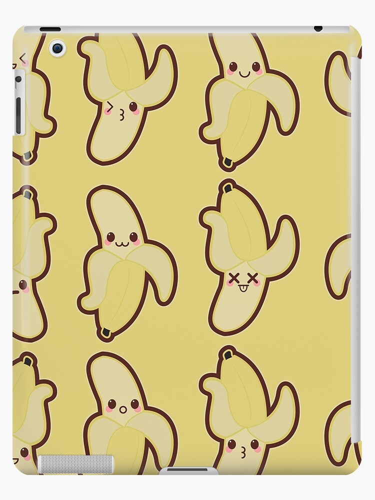 Kawaii Banana Cute Pattern Wallpaper Ipad Case Skin By Susurrationstud