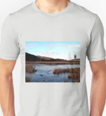 Blue skies and swamp lands Unisex T-Shirt