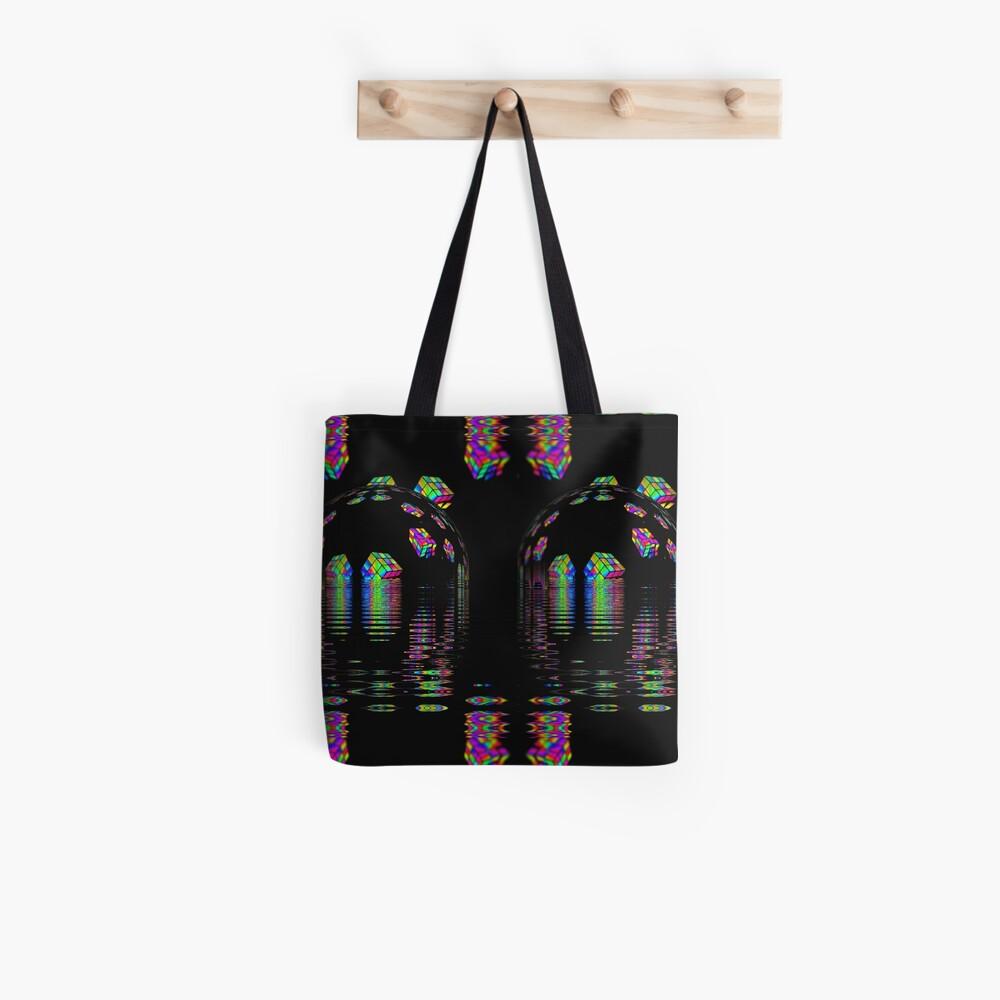 Zauberwürfel Planet Horizon Tote Bag