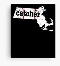 Softball Catchers Shirt Massachusetts Shirt Baseball Catcher Canvas Print