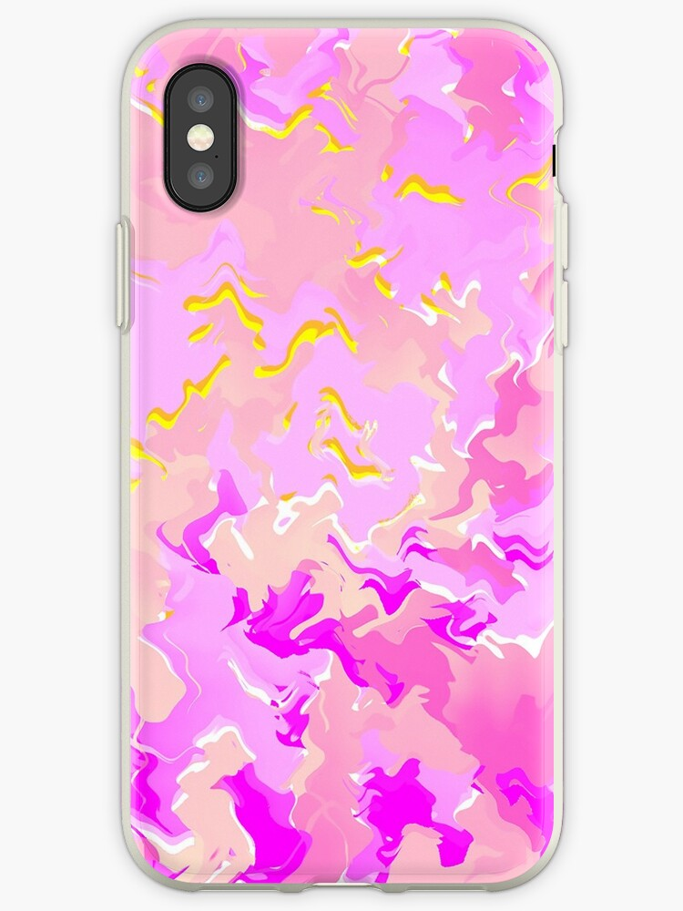 Abstract Graphic Pink and Yellow Wallpaper by SusurrationStud