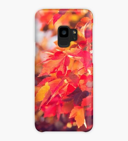 Autumn leaves of red and gold Case/Skin for Samsung Galaxy