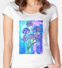 Burst of Spring - Hydrangeas Women's Fitted Scoop T-Shirt