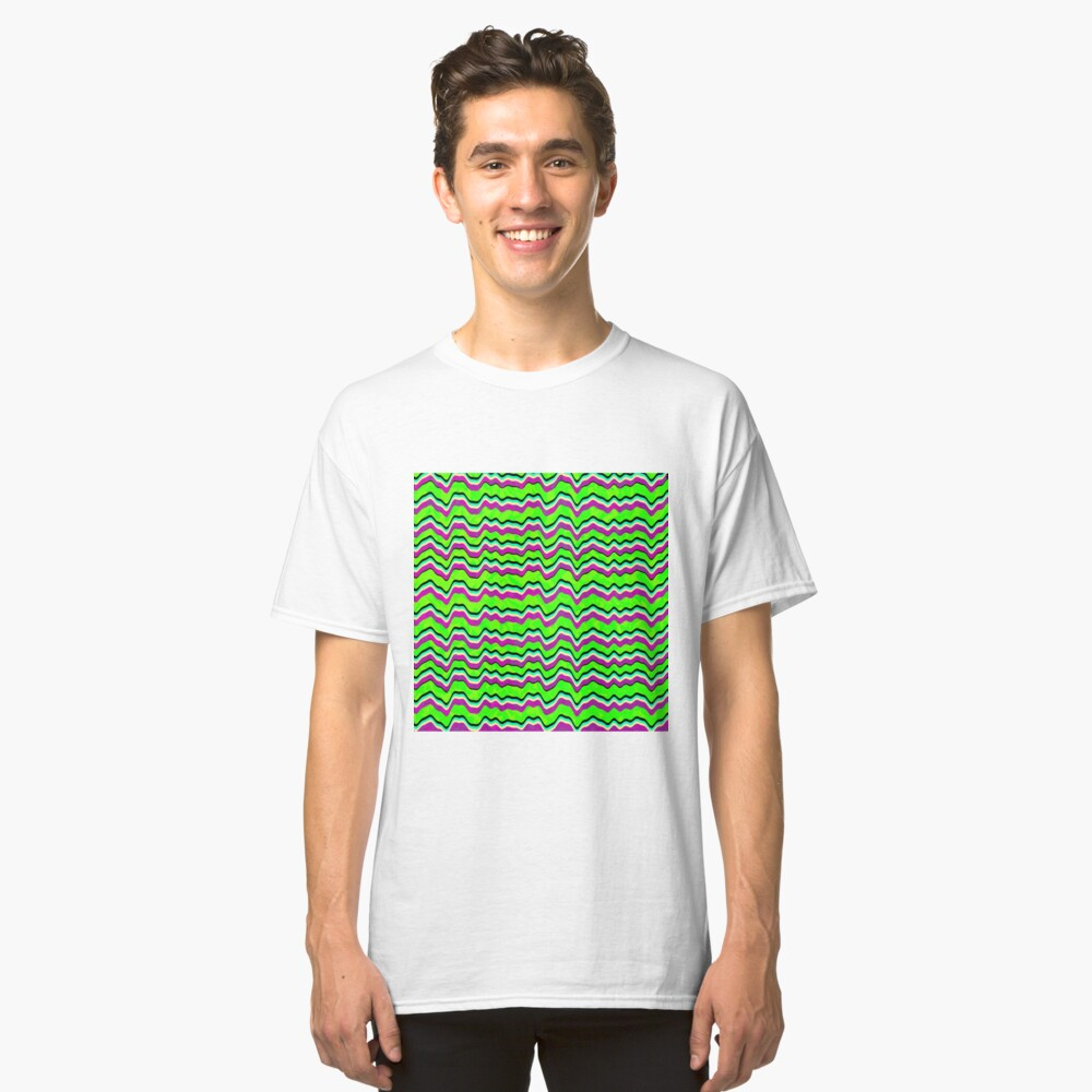 Abstract Graphic Green Sea Pattern Wallpaper Classic T-Shirt