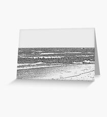 Lake Michigan with Timber Greeting Card