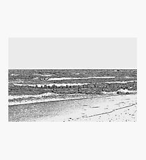 Lake Michigan with Timber Photographic Print